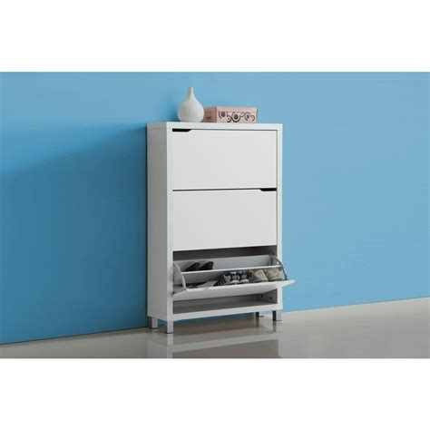 baxton studio shoe cabinet baxton studio simms wood modern shoe cabinet in white 28862 4514 hd the home depot