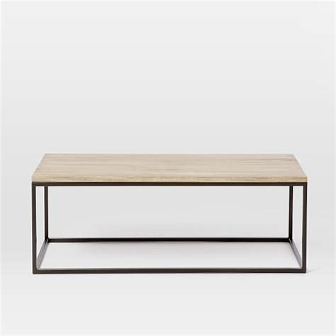 Box Frame Coffee Table Whitewashed Mango West Elm West Elm Framed Desk