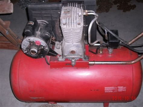 craftsman air compressor 5 hp motor 30 gallon tank portable ebay