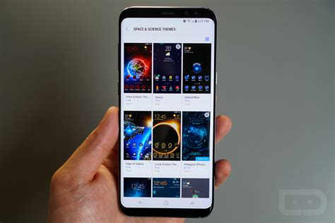themes for android galaxy star galaxy s8 guide custom icons themes and always on