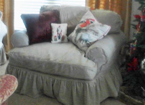 slipcover chair and a half chair and a half custom made slipcover by lharmondesign on