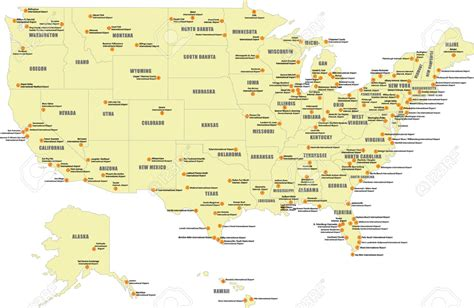 map of major us airports map of major airports in us cdoovision