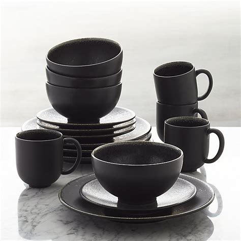Kitchen Collection Free Shipping by Jars Tourron Black 16 Piece Dinnerware Set Crate And Barrel