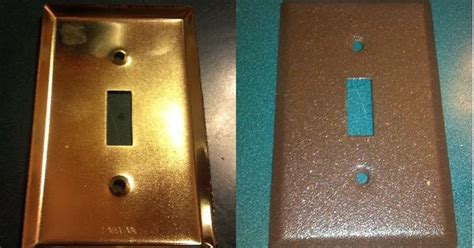 spray painting light switches gold light switch covers before spray painted rustic
