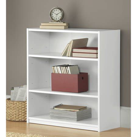 book shelves walmart mainstays 31 quot 3 shelf standard bookcase white walmart