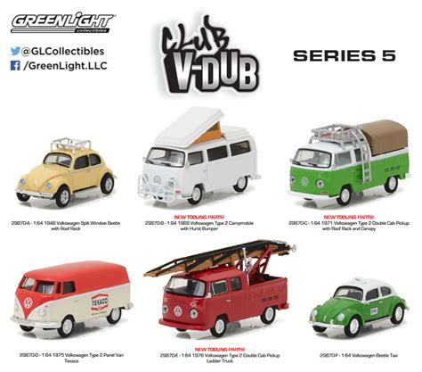 Greenlight Vdub Series Volkswagen T2 1 club v dub greenlight collectibles