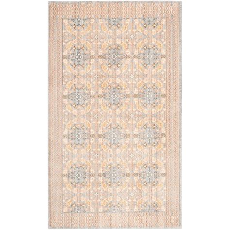 Safavieh Valencia Light Grey Multi 3 Ft X 5 Ft Area Rug 3 Foot Area Rugs