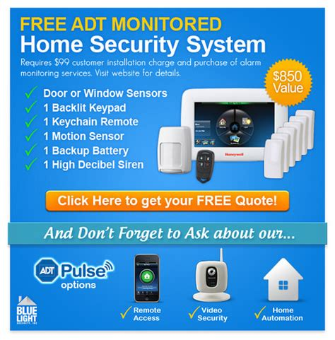 free adt monitored home security system adt authorized