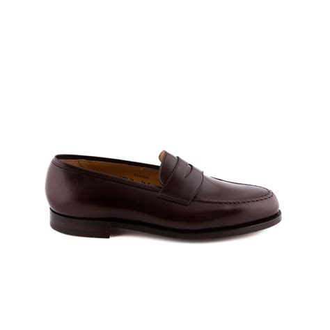 burgundy loafer loafer crockett jones boston in burgundy cavalry calf