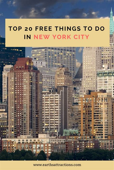 Best Mba New York City by Top 20 Free Things To Do In New York City Earth S