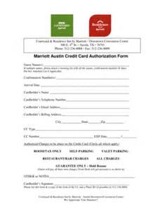 credit card authorization form for residence inn fill printable fillable blank