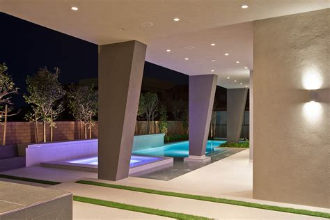 home design audio video las vegas modern las vegas home 15 30 pool and pillars this is
