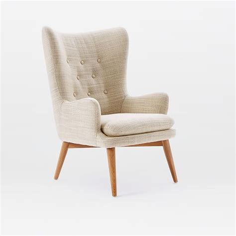 Small Bedroom Chairs With Arms Niels Upholstered Wing Chair West Elm