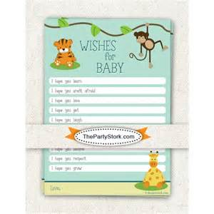safari wishes for baby cards