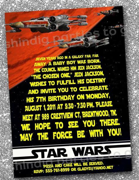 wars birthday invitations templates free wars