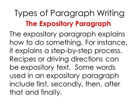 paragraph types english language arts level 7 32 ms walker ppt video