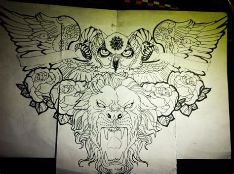 chest tattoo designs drawings remade design for chest by jonathanmartel08