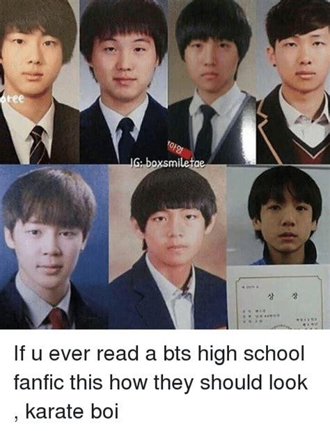 jimin bts school 25 best memes about high school fanfic high school