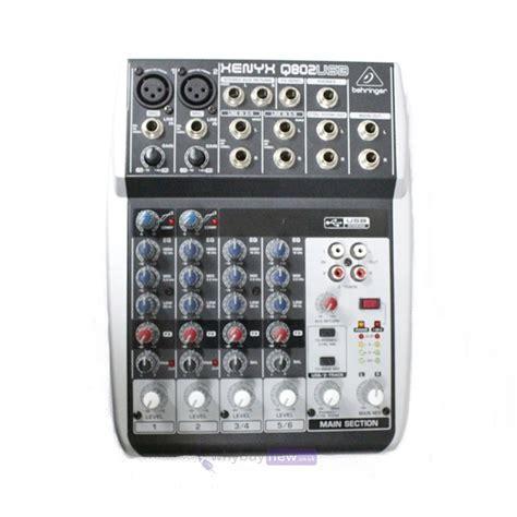 Behringer Mixer Xenyx Q802usb behringer xenyx q802usb mixing desk whybuynew