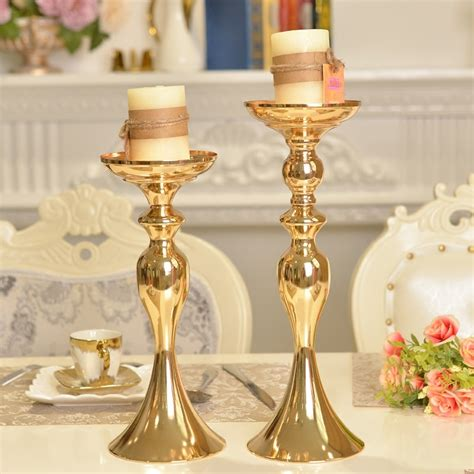 Gold Candle Holders For Wedding by 3 Sizes Gold Metal Candle Holder Candle Stick Silver