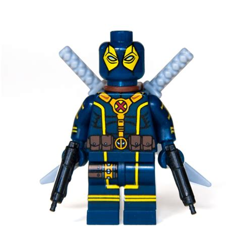 marvel heroes with weapons fb cover ocean custom bricks blue deadpool x force outfit mini figure