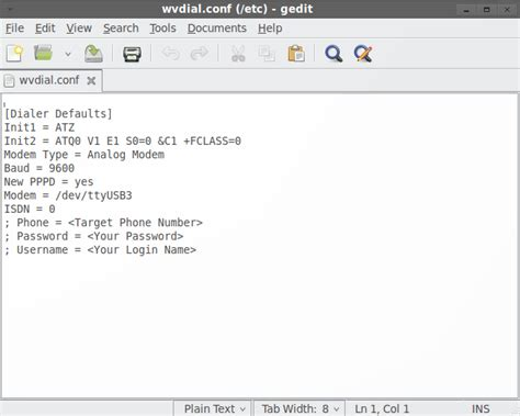 tutorial linux mint indonesia contoh wvdial conf