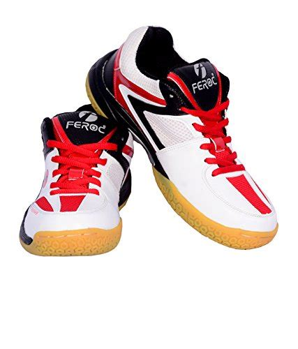 sport shoes free delivery feroc non marking white badminton sports shoes free
