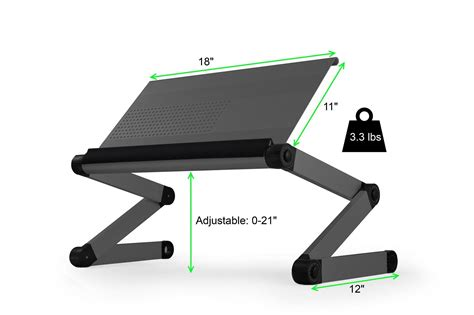 Ergonomic Laptop Stand For Desk Workez Executive Adjustable Height Angle Ergonomic Aluminum Laptop Cooling Stand