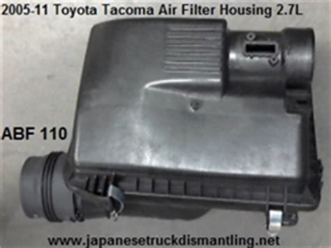 2003 Toyota Tacoma Air Filter 2005 11 Toyota Tacoma 4 Cylinder Air Filter Box Housing