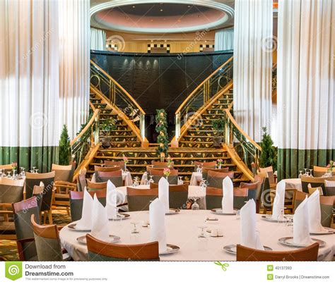 Fine Dining Room Chairs by Empty Cruise Ship Dining Room Stock Photo Image 40137393