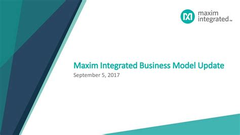 maxim integrated products corporate address maxim integrated products mxim investor presentation slideshow maxim integrated products