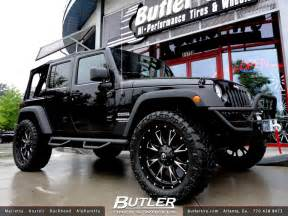 Jeep Wrangler Wheels And Tires Jeep Wrangler With 22in Fuel Throttle Wheels 2 5in Terafl