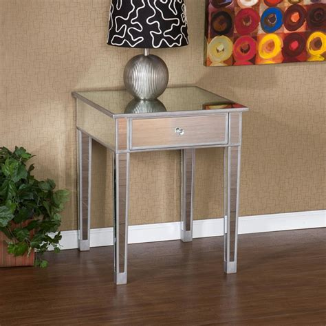 Mirrored Accent Table Sei Mirage Mirrored Accent Table End Tables
