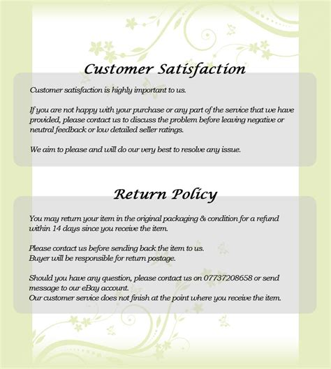 returns policy template no salesman cold callers canvassers label door window