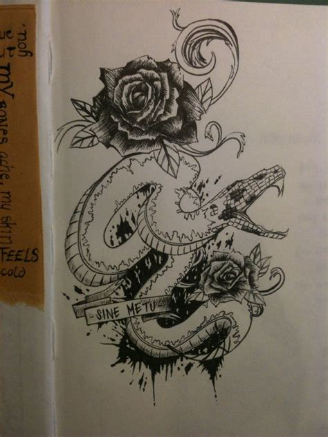 snake and rose tattoo snake and roses design by mmpninja on deviantart