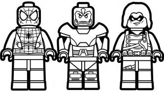 lego spiderman vs lego apocalypse vs lego wasp coloring