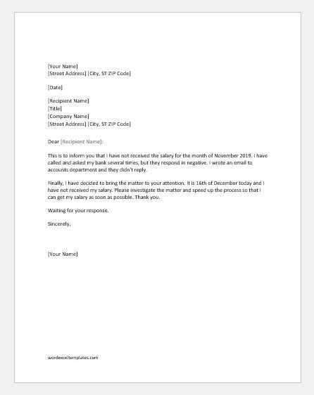 complaint letter 16 download free documents in word pdf