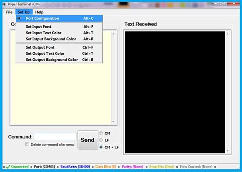 windows terminal program serial port bluetooth module interfacing hc05 module to pc