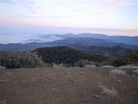 hundred peaks section southern california hiking mcpherson peak february 15 2002
