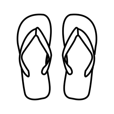 flip flop coloring pages 為孩子們的著色頁 flipflops free coloring pages