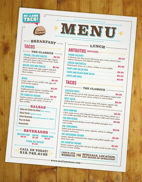 layout of a restaurant menu 17 best images about graphic design menu design on