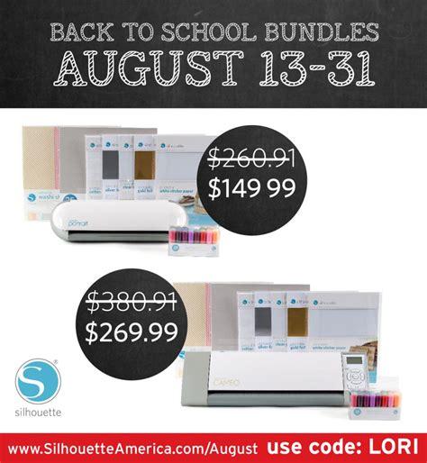 Promo Augustus Board 1 wednesday at snap click supply silhouette promo