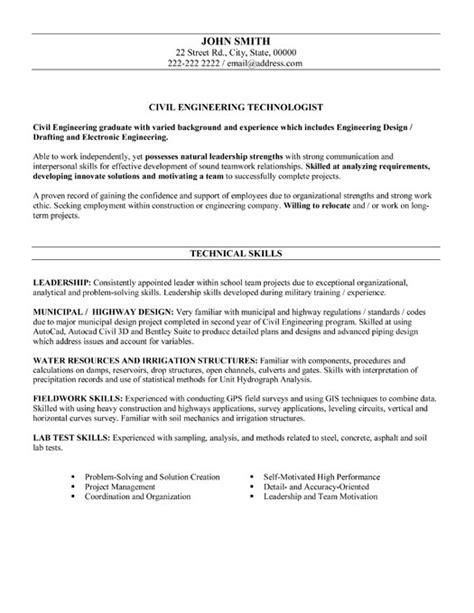 Civil Engineer Resume Sample & Template