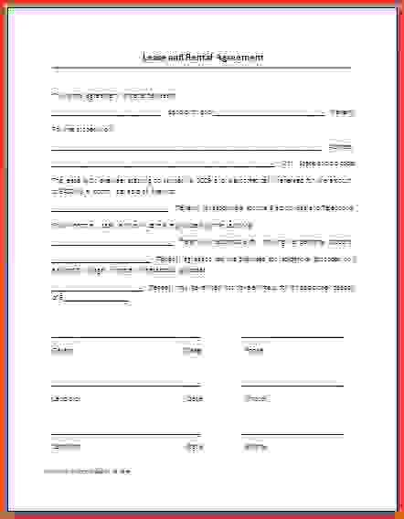 printable lease agreements printable residential lease