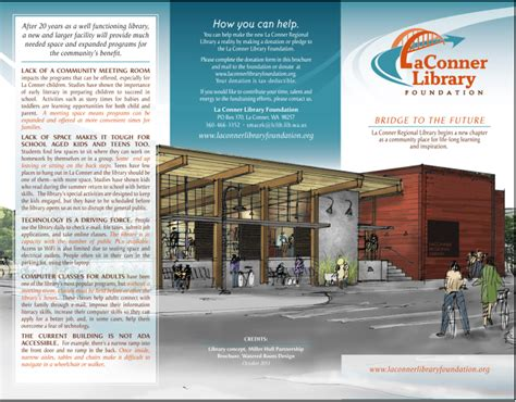 brochure templates library first brochure published la conner library foundation