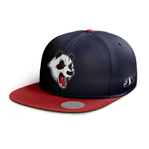 abstrax angry panda snapback navy blue headwear abstrax 174 headwear