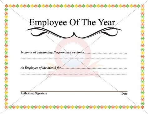 employee of the year certificate template free best 25 employee awards ideas on