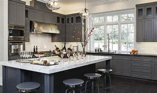 gray kitchen with white cabinets 50 gorgeous gray kitchens that usher in trendy refinement