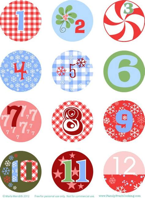 printable number stickers diy freebie christmas advent calendar on