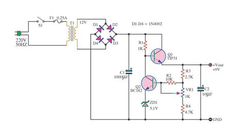 Charger Aki 12v 20a free circuit diagrams simple power supply with 2 transistors